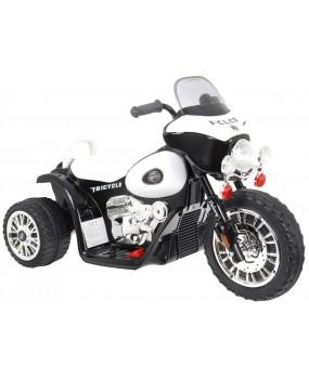 Elektrická policajná motorka Chopper čierna